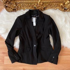 White House Black Market Black Seasonless Jacket